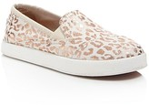 Toms Girls' Metallic Cheetah Print Slip On Sneakers - Toddler, Little Kid, Big Kid