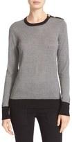 Equipment Ondine Silk & Cashmere Shoulder Button Sweater