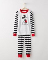 Disney Mickey Mouse Kids Long John Pajamas In Organic Cotton