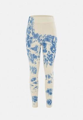 Missguided Tie Dye Deep Waistband Leggings