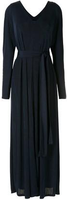 Alcaçuz Belted Pleated Dress