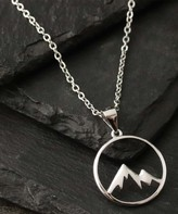 Kurt Geiger Silver Silver Women's Necklaces silver - Sterling Silver Open Mountain Pendant Necklace