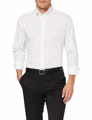 Seidensticker Men's Modern Fit Langarm Mit Verdecktem Button-Down-Kragen Bugelleicht Floraler Print-100% Baumwolle Formal Shirt