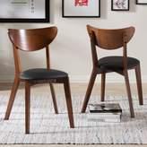 Baxton Studio Sumner Mid-Century Dining Chair 2-piece Set