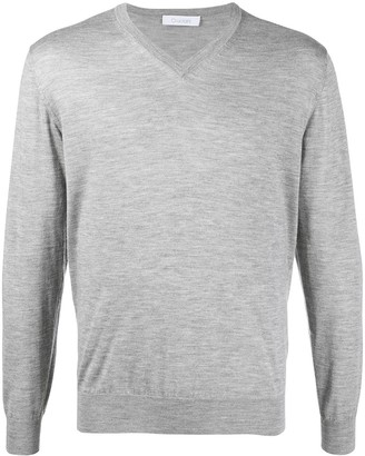 Cruciani long-sleeve V-neck jumper