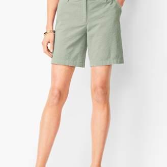 Talbots Girlfriend Chino Shorts - Yarn-Dyed Seersucker