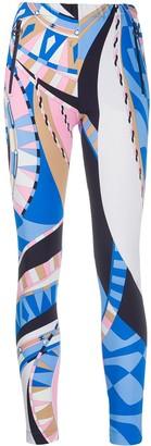 Emilio Pucci Abstract-Print Leggings