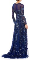 Thumbnail for your product : Mac Duggal Long-Sleeve Beaded A-Line Gown