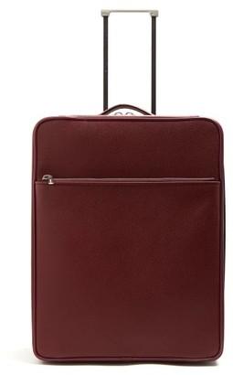 Valextra Leather Cabin Suitcase - Burgundy