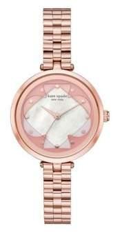 Kate Spade Holland Rose Goldtone Stainless Steel Bracelet Watch