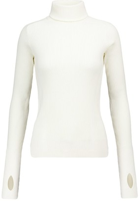 Reebok x Victoria Beckham Ribbed-knit cotton-blend sweater