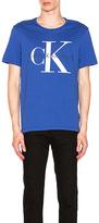 Calvin Klein Reissue Logo Tee in Blue. - size L (also in M,S,XL)