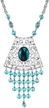 1928 Bead Filigree Bib Necklace