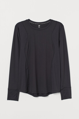 H&M H&M+ Long-sleeved Sports Top
