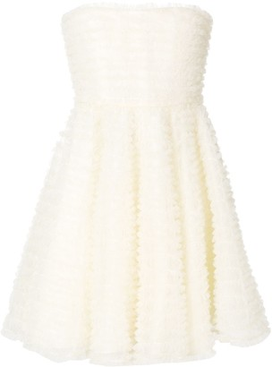 DSQUARED2 strapless micro-frilled dress