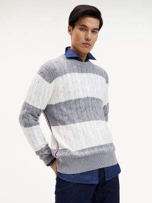 Tommy Hilfiger Tommy Tape Block Stripe Jumper