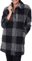 Fleet Street Women's Cocoon Plaid Wool-Blend Coat