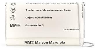 MM6 MAISON MARGIELA logo clutch bag