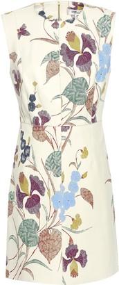Diane von Furstenberg Floral-print Leather Mini Dress