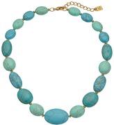"Lauren Ralph Lauren Paradise Found 18"" Turquoise Nugget Bead Necklace"