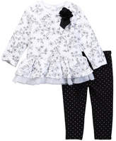 Little Me Black & White Legging Set (Baby Girls)