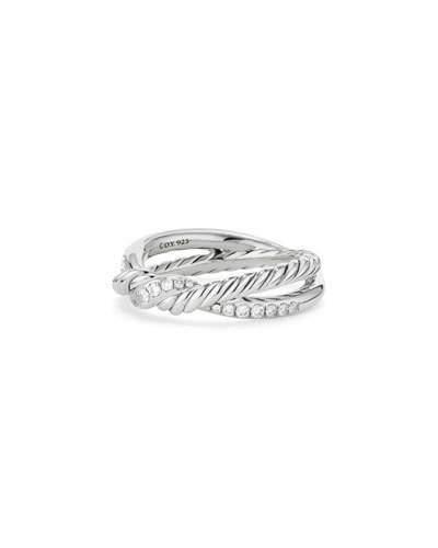 David Yurman Continuance Sterling Silver Diamond Single-Twist Ring