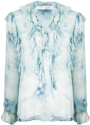 IRO Cruis sheer ruffled blouse