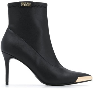 Versace Jeans Couture Metal-Tipped Ankle Boots