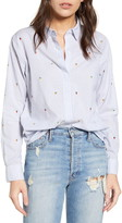 Rails Taylor Embroidered Stripe Shirt