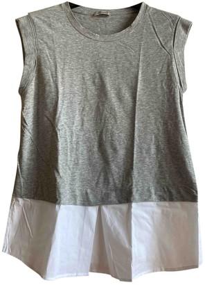 Cappellini Grey Cotton Top for Women