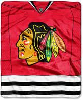 Northwest Company Chicago Blackhawks Raschel Stamp Blanket