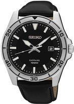 Seiko SGEH65 Men's Sapphire Window Watch with Leather Strap