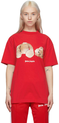 Palm Angels Red Bear T-Shirt