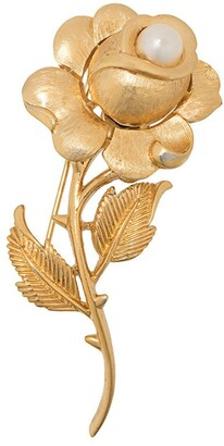 Susan Caplan Vintage 1960's Trifari rose brooch