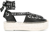 McQ by Alexander McQueen eyelet detail espadrilles - women - Jute/Leather/rubber - 39
