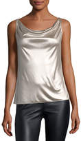 Bailey 44 Screen Test Sleeveless Cowl-Neck Metallic Top