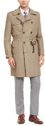 Calvin Klein Men Slim-Fit Double Breasted Military Raincoat