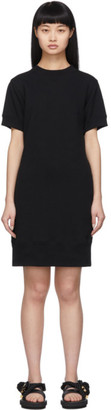 Sacai Black Cut-Out Sweat Dress