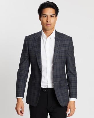 Gieves And Hawkes Plaid Formal Blazer