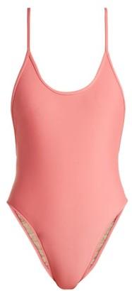 Adriana Degreas Le Fleur High-leg Swimsuit - Womens - Light Pink