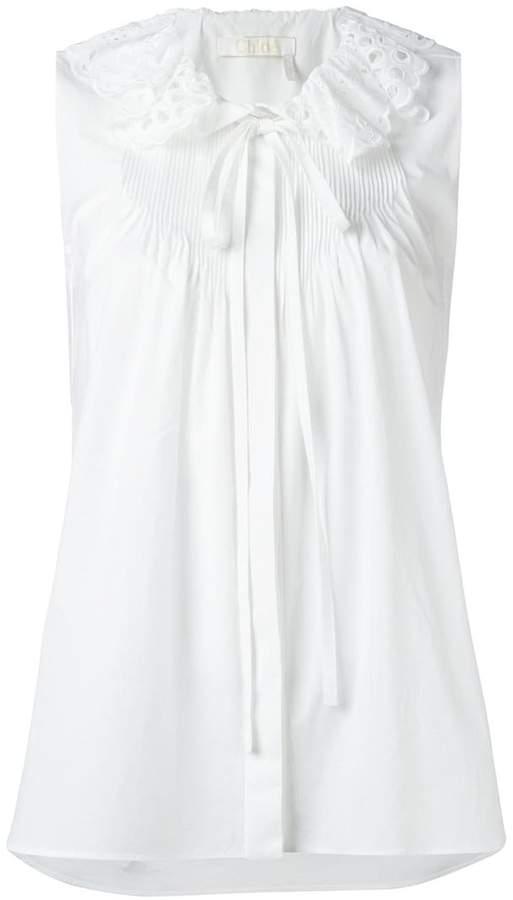 Chloé broderie anglaise collar blouse