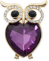 MONET JEWELRY Monet Crystal Owl Pin