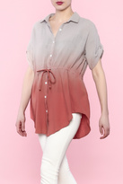 Easel Button-Down Tunic Top