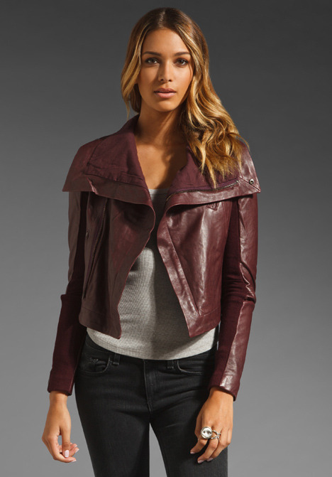 Veda Max Classic Crispy Leather Jacket