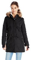 S13/Nyc Women's Army Sherpa Lined Parka with Faux Fur Hood