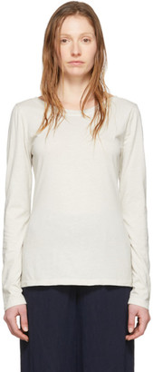 Raquel Allegra Off-White Ballet Long Sleeve T-Shirt