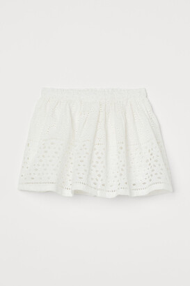 H&M Skirt with Eyelet Embroidery