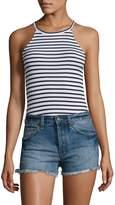 Splendid Women's Striped Halter Bodysuit