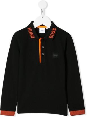 Boss Kids Logo Front Polo Shirt