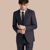 Burberry Modern Fit Wool Part-canvas Jacket